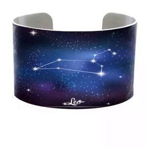 Leo Zodiac Constellation Sign Bracelet Cuff
